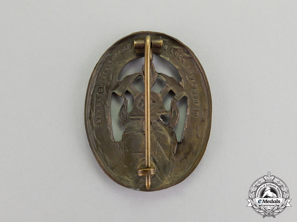Germany. A Volunteer Firefigther's Badge by Steinhauer & Lück