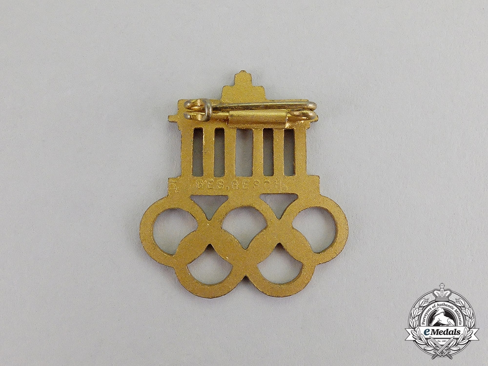 German.y A 1936 Berlin Olympic Games Event Badge by Werner Redo