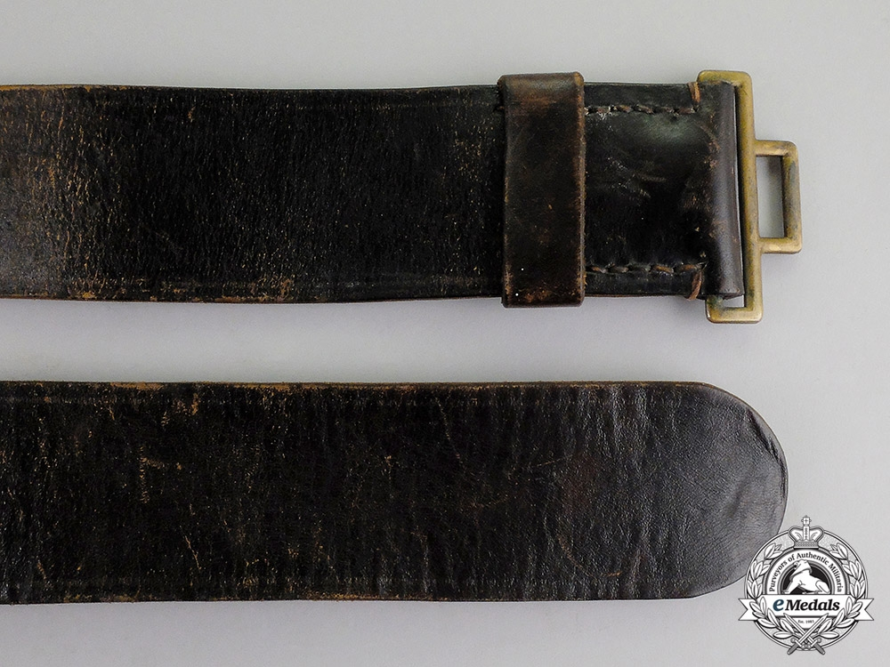 Germany, Wiemar Republic. A Prussian Protection Police (Schutzpolizei) Officer Buckle & Belt