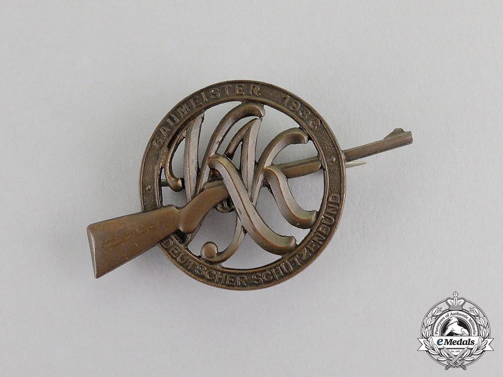 "Germany. A 1933 German Marksmanship Association ""Regional Marksman"" Badge"