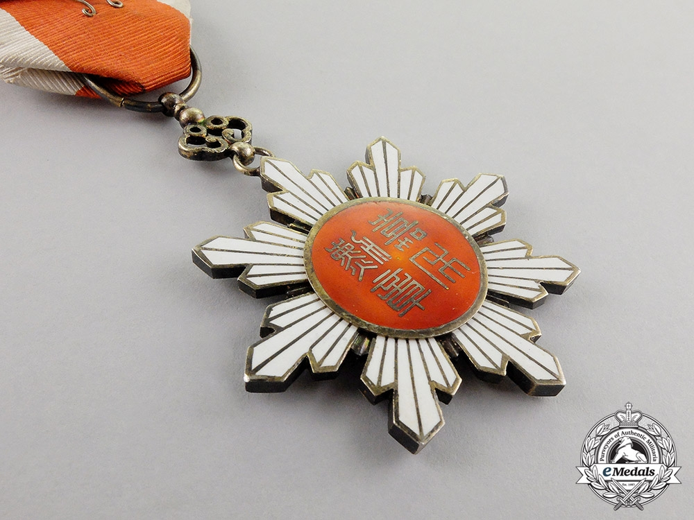 China. An Order of the Golden Grain, 6th Class Officer's Badge