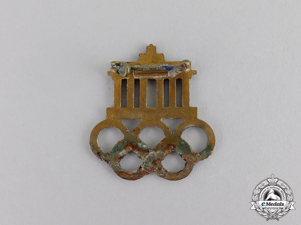 Germany. A 1936 Berlin Olympic Games Event Badge by Hermann Aurich