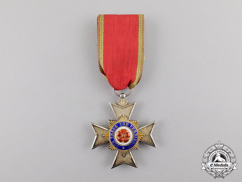 Lippe. An 1913-1918 Princly Schaumburg-Lippe Houseorder Cross Fourth Class by Godet