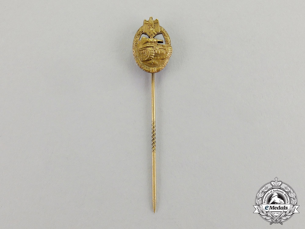 Germany. A Mint Bronze Grade Panzer Badge Miniature Stick Pin