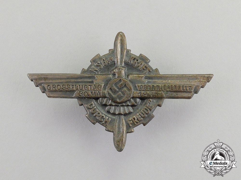 Germany, NSFK. A 1935 Oberwiesenfeld Great Day of Flight Badge