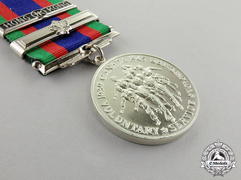 Canada. A Volunteer Service Medal with Overseas & Hong Kong Clasps