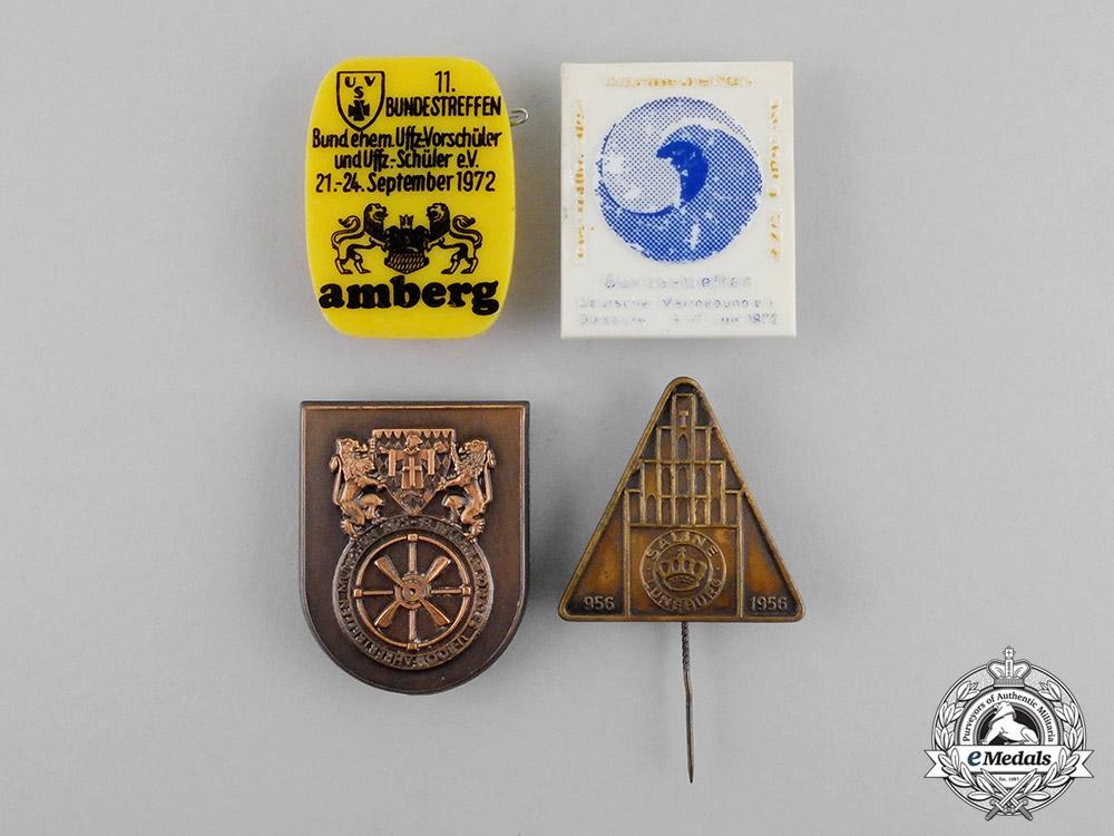 Germany. Four Post-War Veteran's Organization Badges