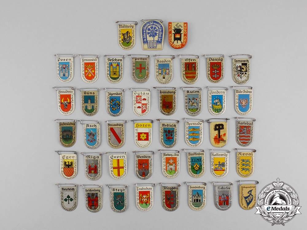 Germany. Forty Two Second War German Donation Badges