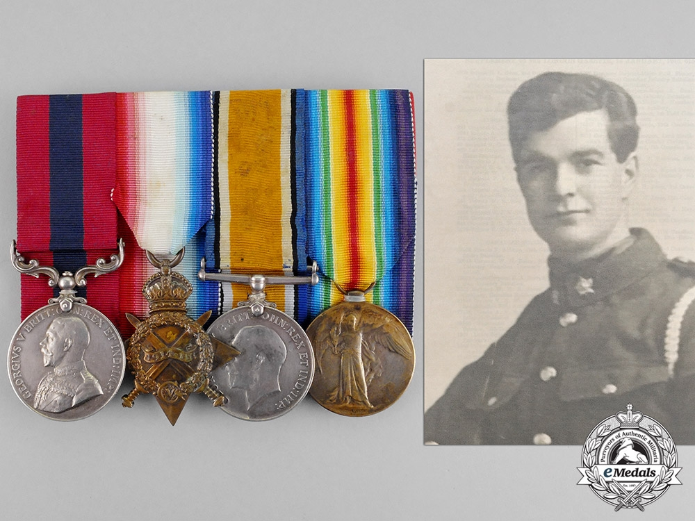 Canada. A Kitchener's Wood DCM Group to Lieut. Brookes, later 23 Squadron Royal Flying Corps