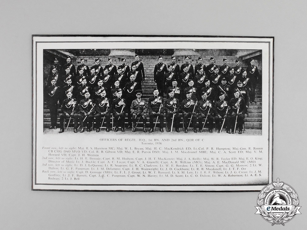 Canada. A Group to Major V.M.Howard, 2nd Battalion Queen's Own Rifles of Canada & Royal Flying Corps