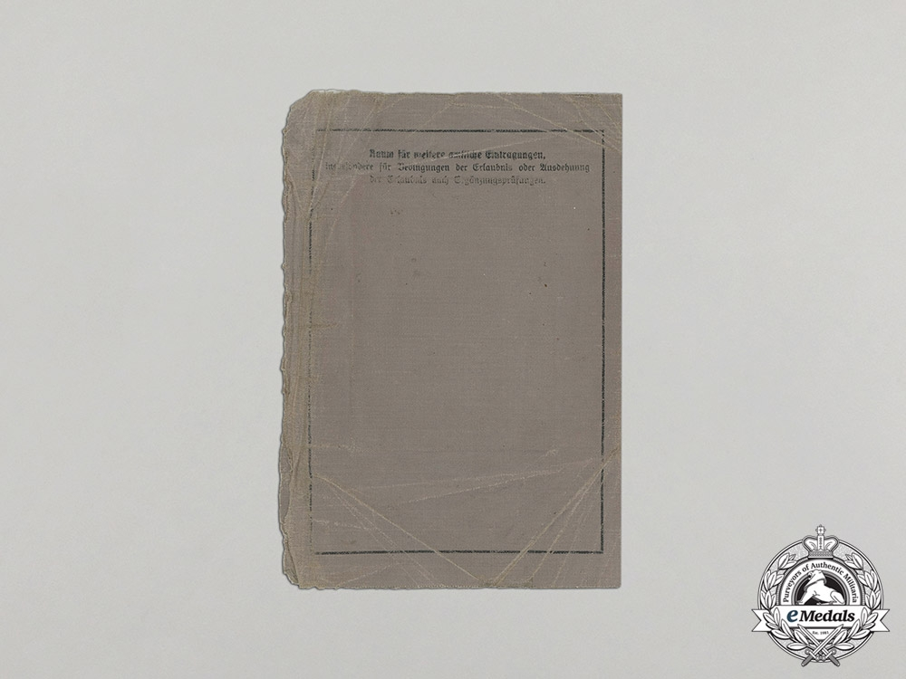 Germany. A DKiG Group with Documents to Oberst Günther Dammaß, Pionier Battalion 60