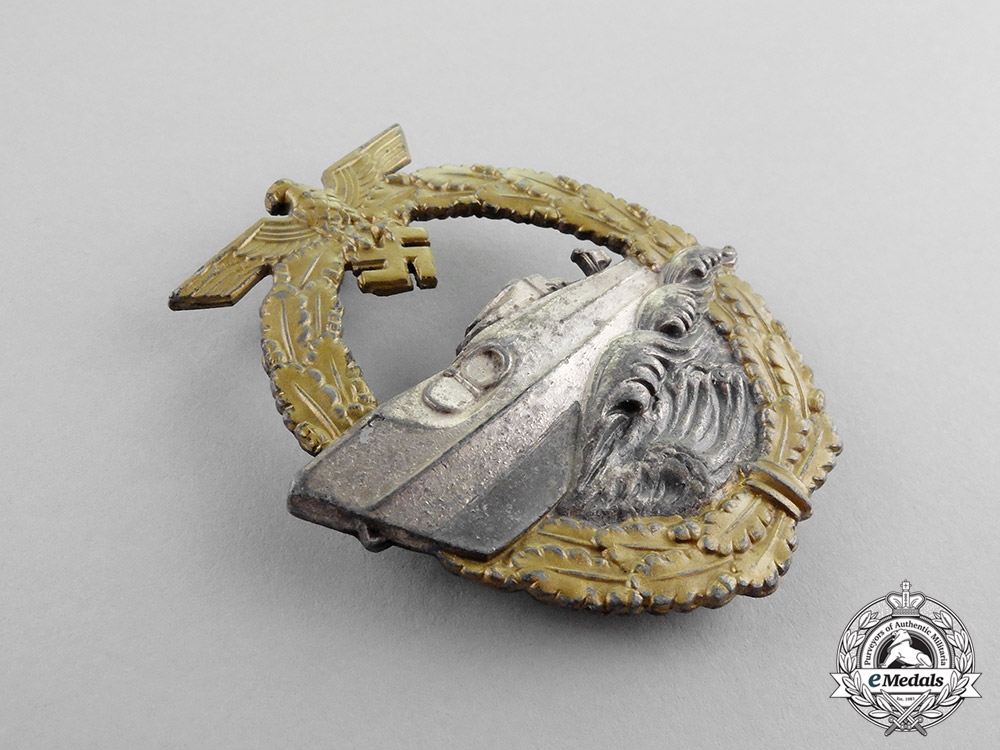 Germany. A Kriegsmarine E-Boat Badge by Schwerin; Second Type - Variant One