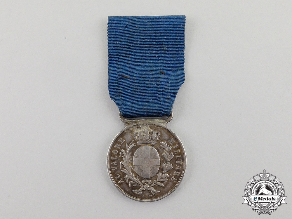 Italy. An 1859 War of Independence Silver Al Valour Militarie