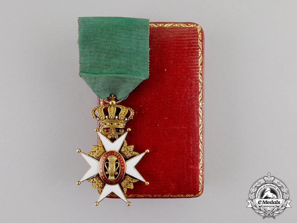 Sweden. An Order of Vasa in Gold, 1st Class Knight, by  C.F.Carlman