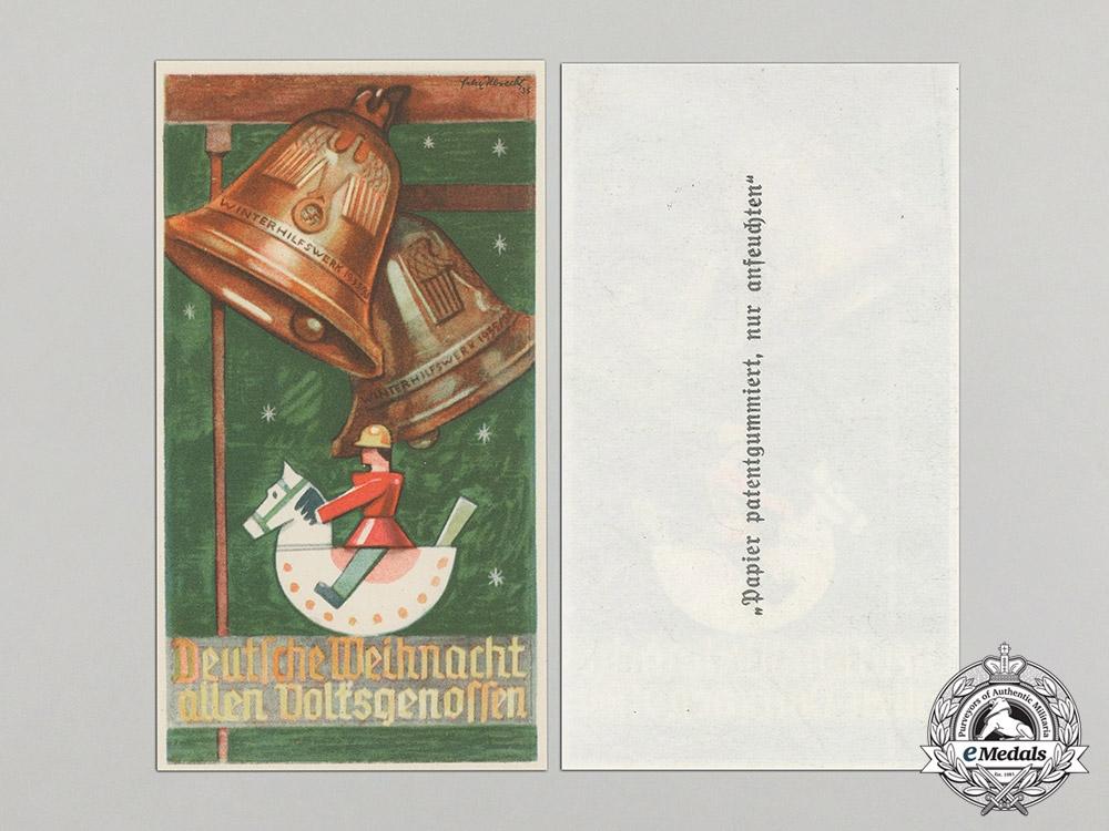 Germany. Two Winterhilfswerk (WHW) German Christmas to All Fellows Handouts, 1935-1936