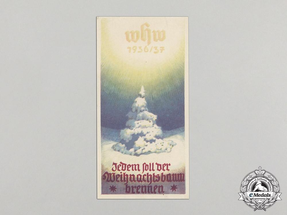 Germany. A Winterhilfswerk (WHW) Set of Christmas Tree Burning Handout, 1936-1937