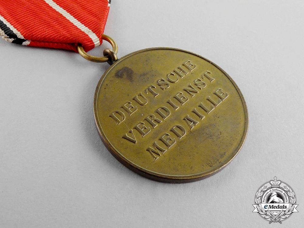 """Germany. A German Eagle Order """"Verdienstmedaille"""" Merit Medal; Maker """"29"""""""