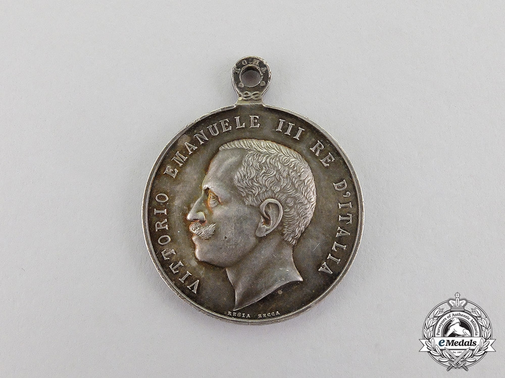 Italy, Kingdom. A Medal of Remembrance of the Royal House, Silver Grade