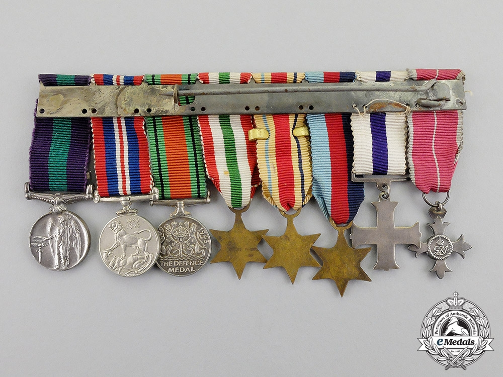 Great Britain. An OBE & Military Cross Miniature Group, c.1945