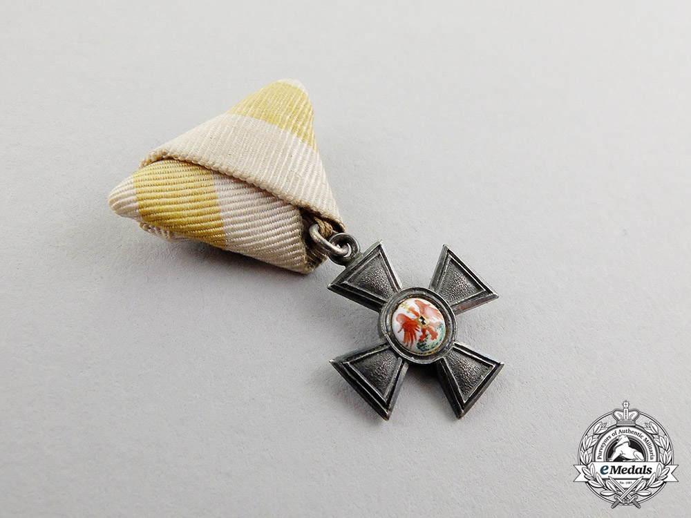 Prussia. A Miniature Imperial Order of the Red Eagle Cross, Fourth Class