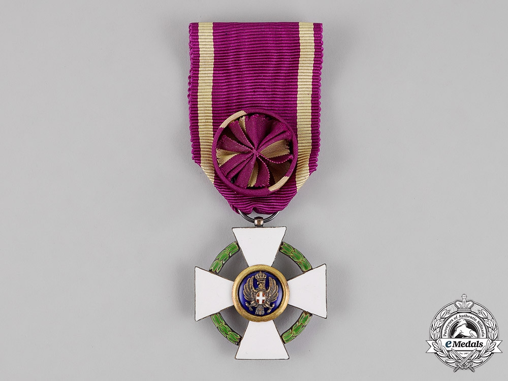 Italy, Fascist Era. An Order of the Roman Eagle, 4th Class Officer, by Godet, c.1942