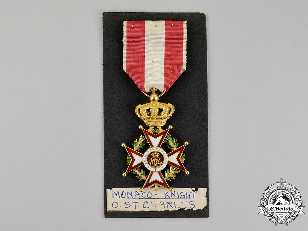 Monaco. An Order of St.Charles in Gold, 1st Class Knight, c.1930