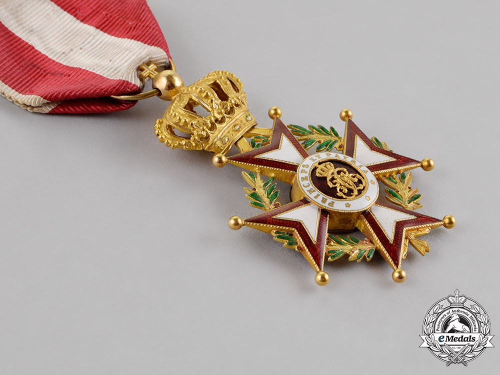 Monaco, Principality. An Order of St. Charles in Gold, I Class Knight, c.1930