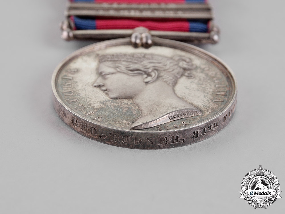 United Kingdom. A Military General Service Medal, 34th (Cumberland) Regiment of Foot