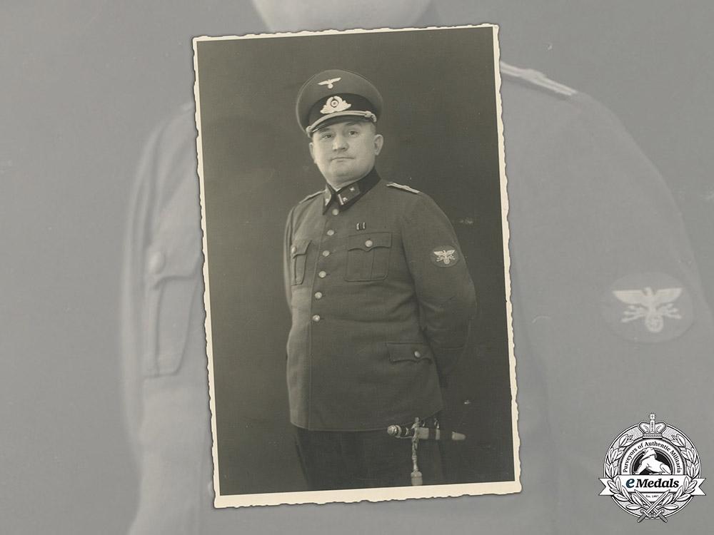 Germany, Postschutzpolizei. A Rare Wartime Studio Portrait of a Zughauptführer with Dagger