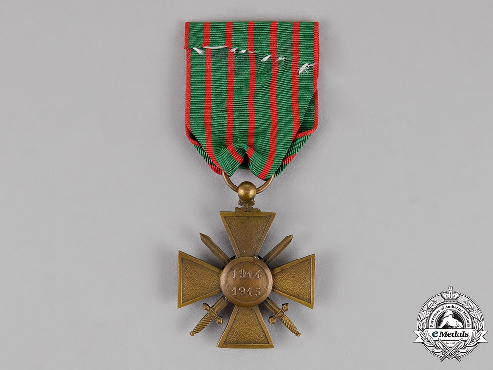 France, Republic. A Croix de Guerre with Document to Telephonist Marcel François Bedabourg