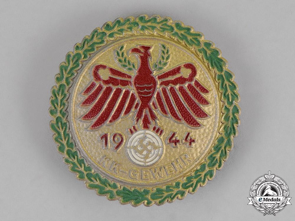 Germany. A 1944 Small-Caliber Rifle Tirolian Master Shooting Award