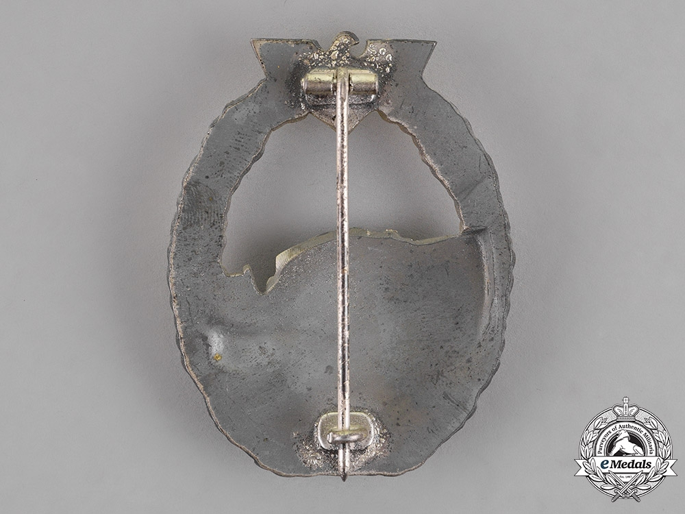 Germany. A Kriegsmarine E-Boat Badge, First Type, by an Unknown Maker
