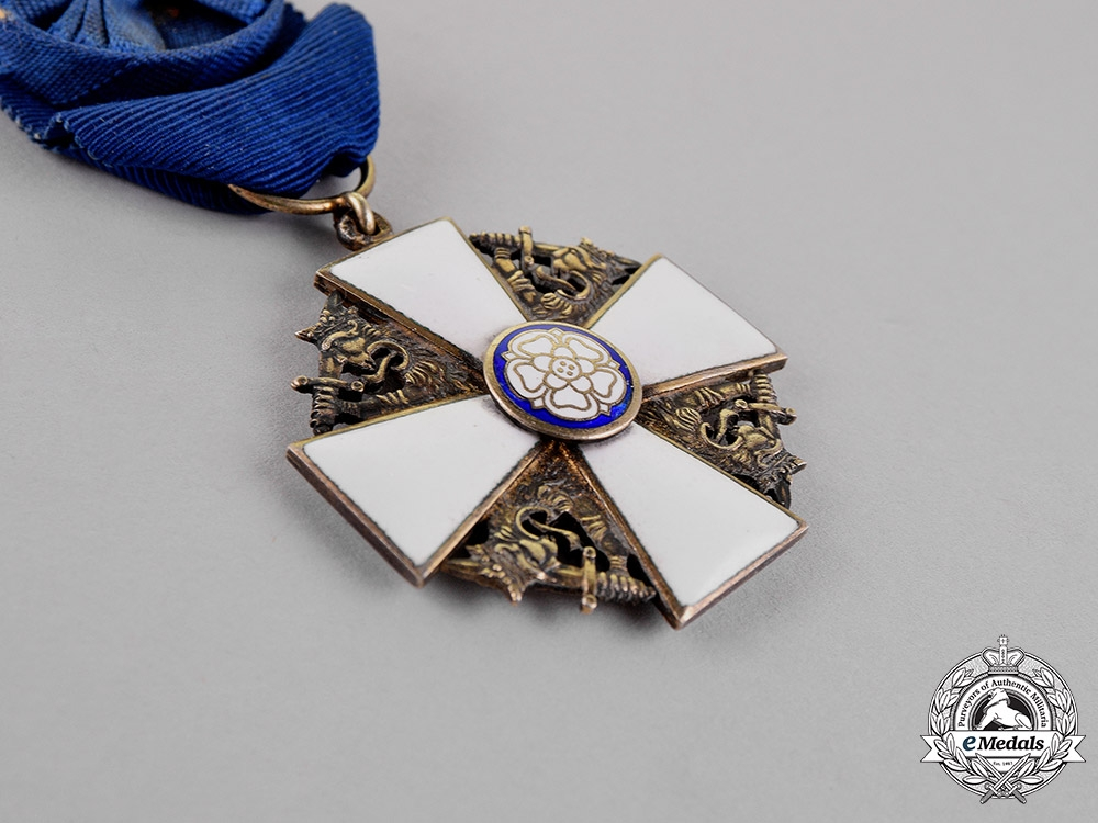 Finland. An Order of the White Rose, First Class Knight, by  Alexander Tillander & Co