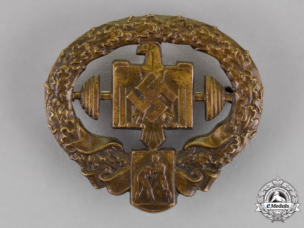 Germany. A DRL Heavy-Weight Sports Badge, in Bronze, Second Type, by F. Schmidhäusler
