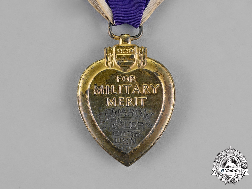 United States. A Posthumous Purple Heart to Electrician's Mate USS Cushing (DD-376), KIA during the Battle of Guadalcanal