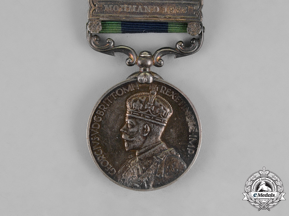 United Kingdom. An India General Service Medal 1908-1935, to Sigmalman Mohammad Yasin, Indian Service Corps