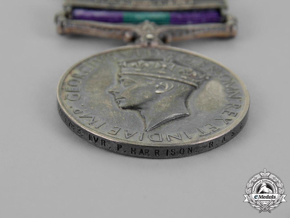 United Kingdom. A General Service Medal 1918-1962, to Driver P. Harrison, Royal Army Service Corps
