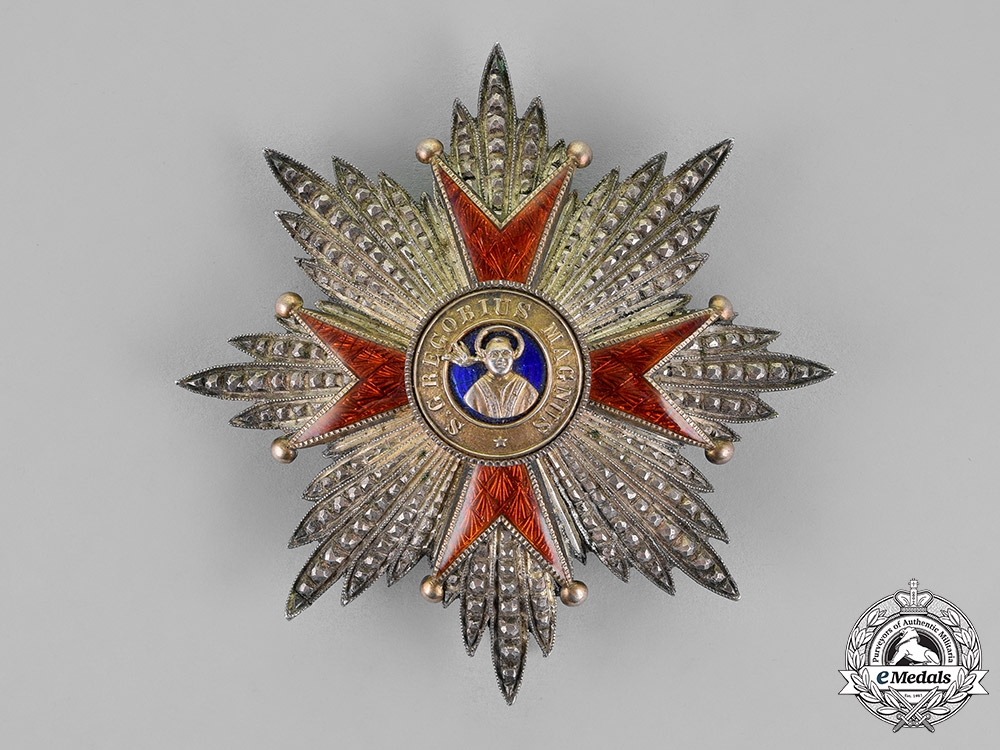 Vatican. An Order of St. Gregory the Great, I Class Star, c.1930
