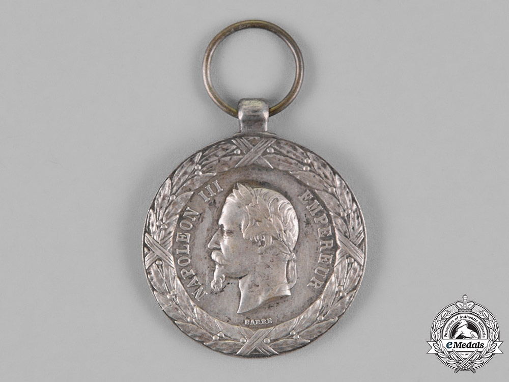 France, Republic. A Medal for the Italian Campaign 1859, Type II (Larger Version)