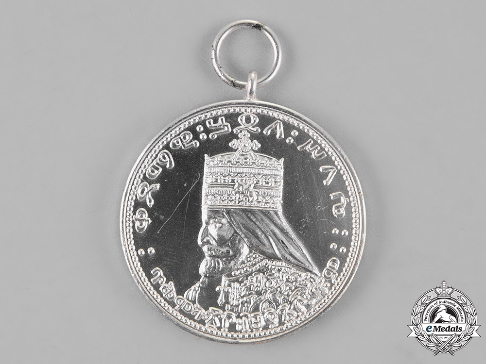 Ethiopia. A Coronation Medal of Emperor Haile Selassie I, Silver Grade