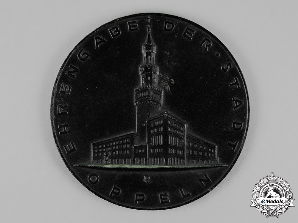Germany. An Honourary Medal Presented by the City of Oppeln