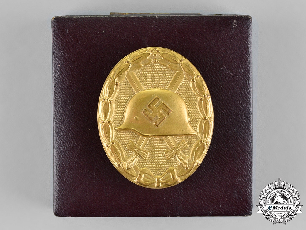 Germany. A Wound Badge, Gold Grade, in its Presentation Case of Issue, by the Official Vienna Mint