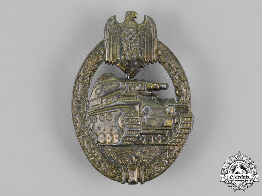 Germany, Wehrmacht. A Tank Badge, Bronze Grade