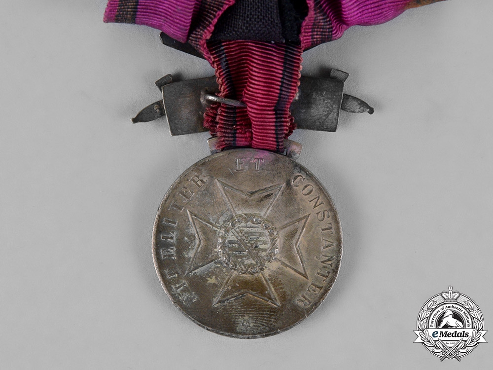 Saxony. A Silver Merit Medal with Swords and 1914/7 Clasp