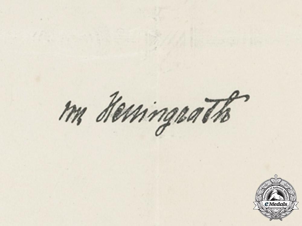 Bavaria, Kingdom. A Military Merit Cross 2nd Class With Swords Award Document To Infantry Vizefeldwebel Paul Fischer, 1917