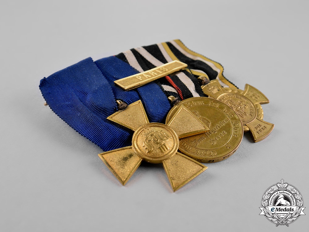 Prussia, State. A 25-Year Long Service Medal Bar with Three Awards