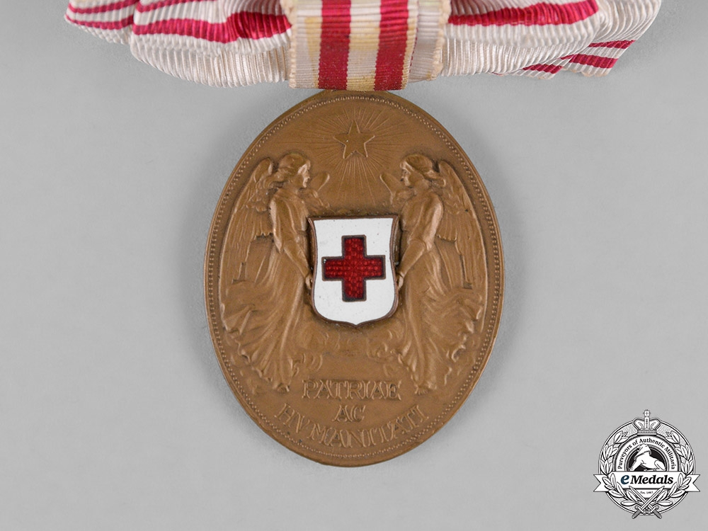 Austria, Empire. An Honour Decoration of the Red Cross, Bronze Medal, Ladies Ribbon