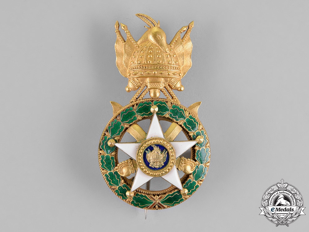 Albania, Kingdom. An Order of Scanderbeg, Officer's Breast Badge, c.1930