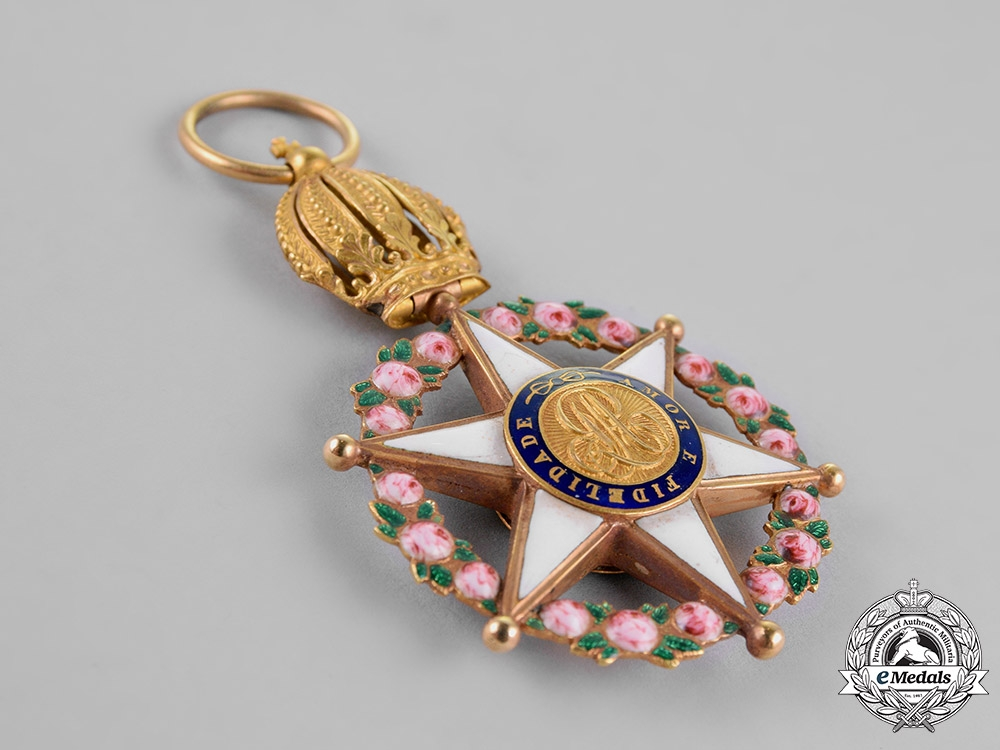 Brazil, Independent Empire. An Order of the Rose in Gold, Officer's Cross, c.1870