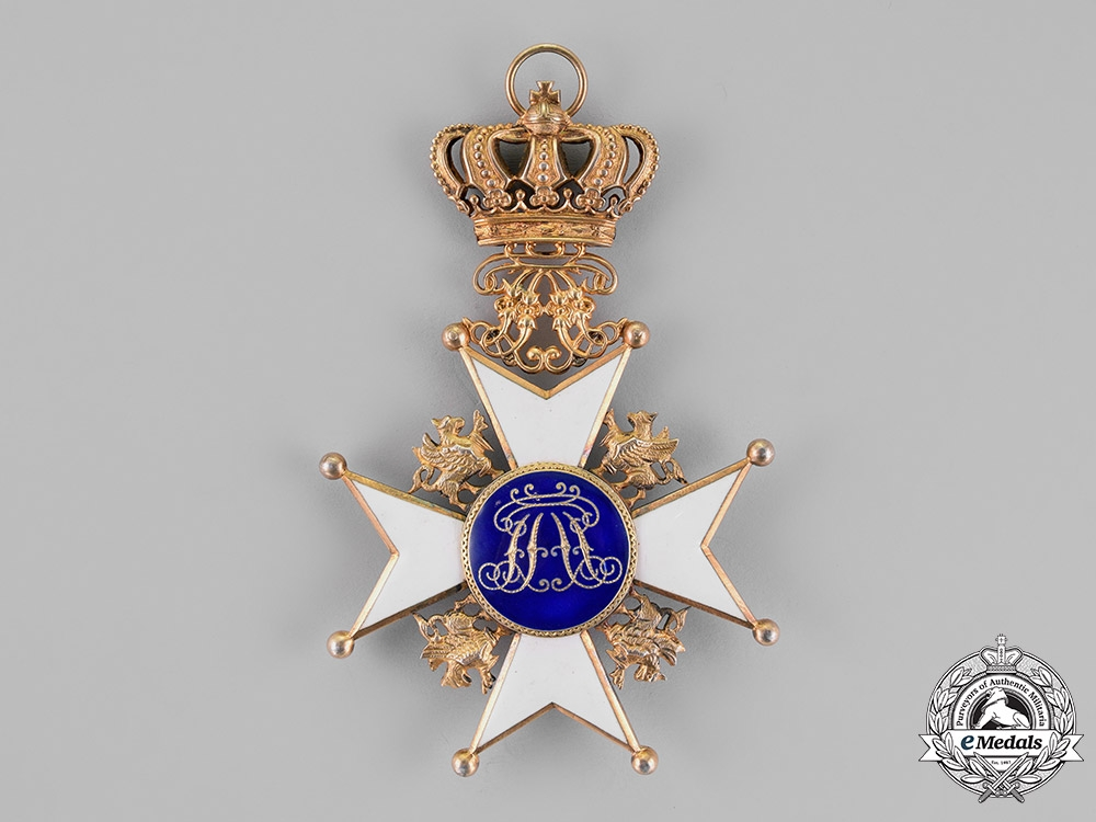 Mecklenburg-Schwerin. A House Order of the Wendisch Crown, Grand Cross Sash Badge